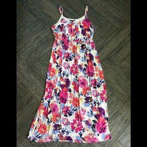 Felicity & Coco Floral stretch maxi knit 3x dress